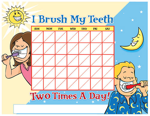 Color Brushing Chart for Children - Pediatric Dentist in Springfield, MO